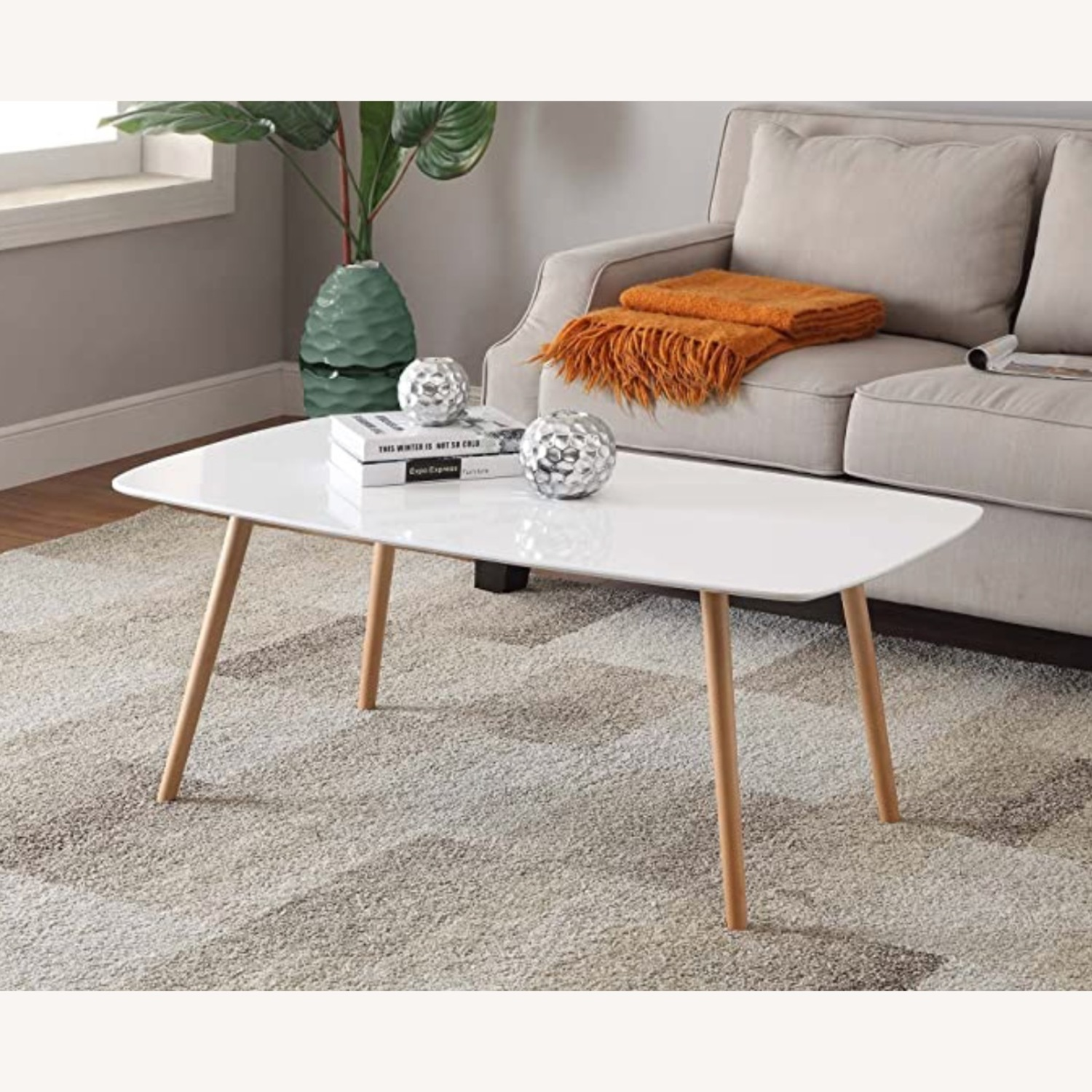White Lacquer Coffee Table - image-2