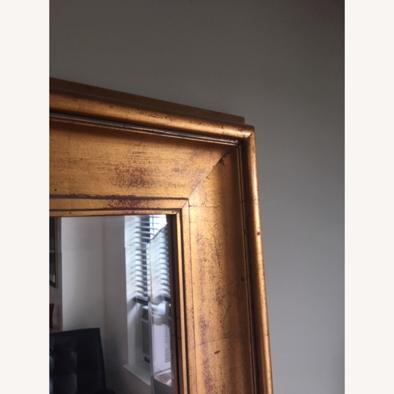 Antiqued Gold Framed Beveled Mirror - image-3