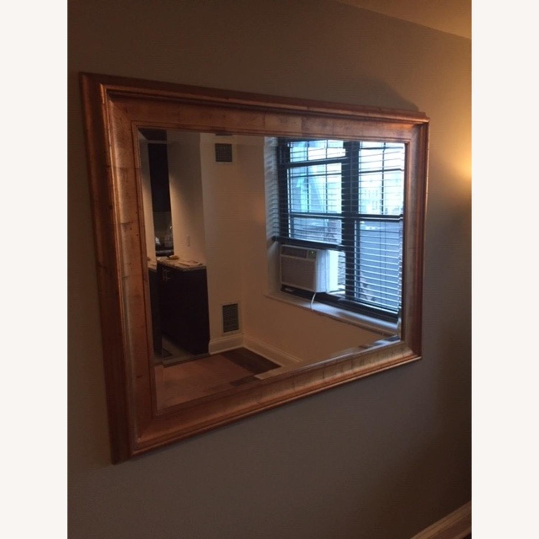 Antiqued Gold Framed Beveled Mirror - image-1
