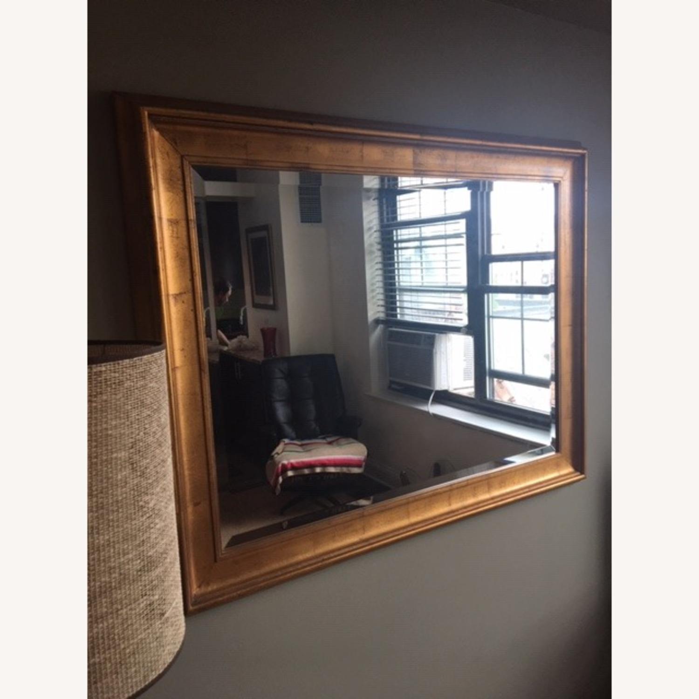 Antiqued Gold Framed Beveled Mirror - image-2