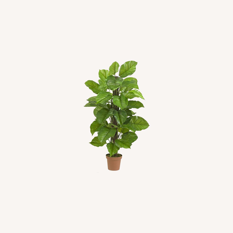 Large Leaf Decorative Silk Plant - image-0