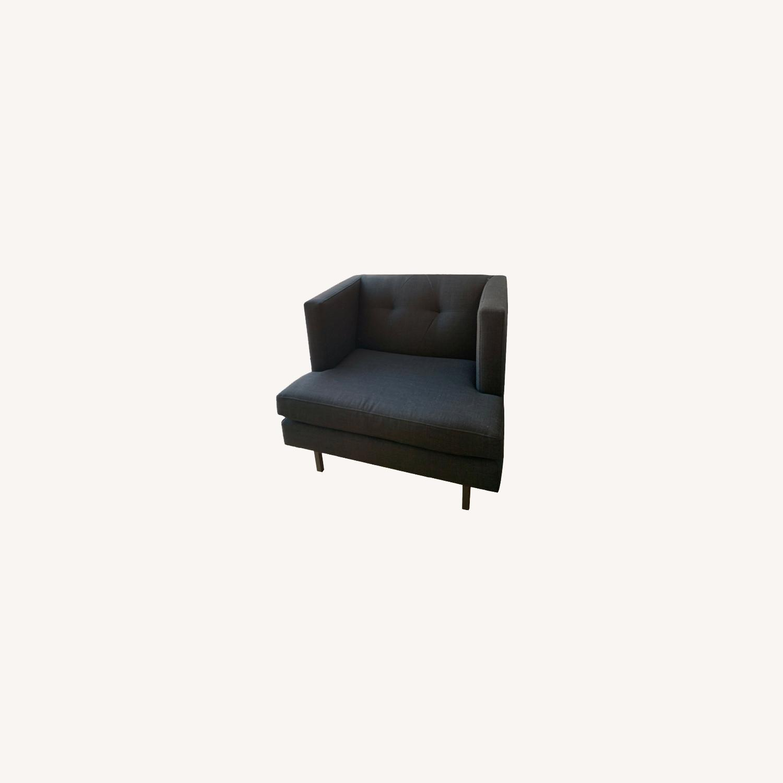 Grey Avec Accent Chair - image-0