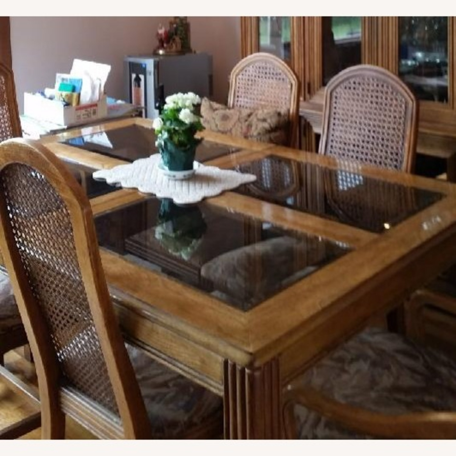 Italian Fruitwood Dining Table - image-1