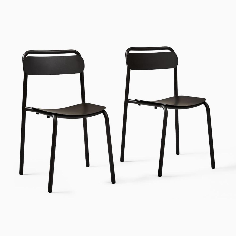 West Elm Meta Stacking Chairs SET2 - image-0