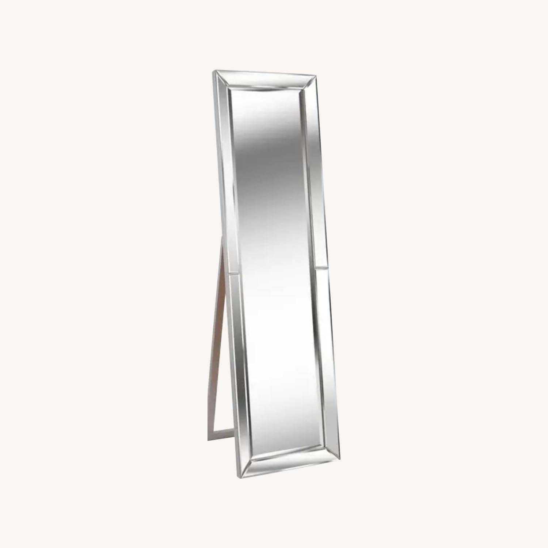 Overstock Beckett Silver Stand Mirror - image-0
