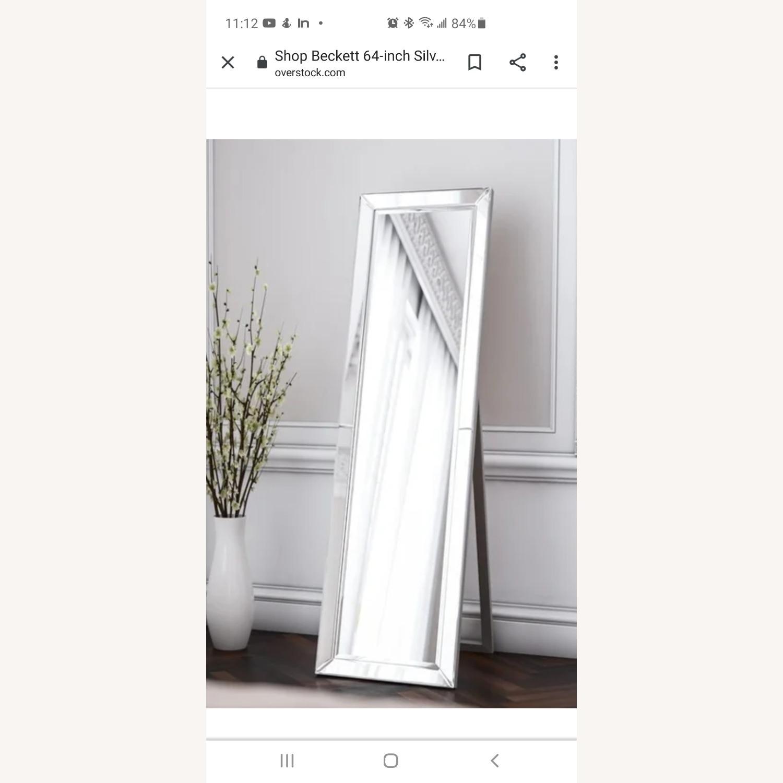 Overstock Beckett Silver Stand Mirror - image-2