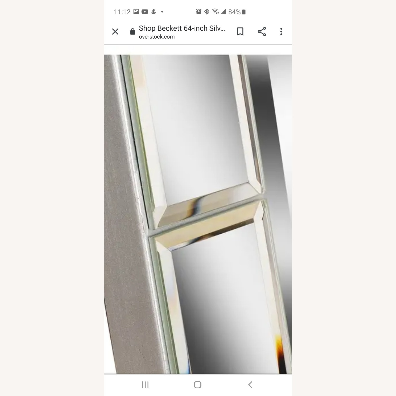 Overstock Beckett Silver Stand Mirror - image-4