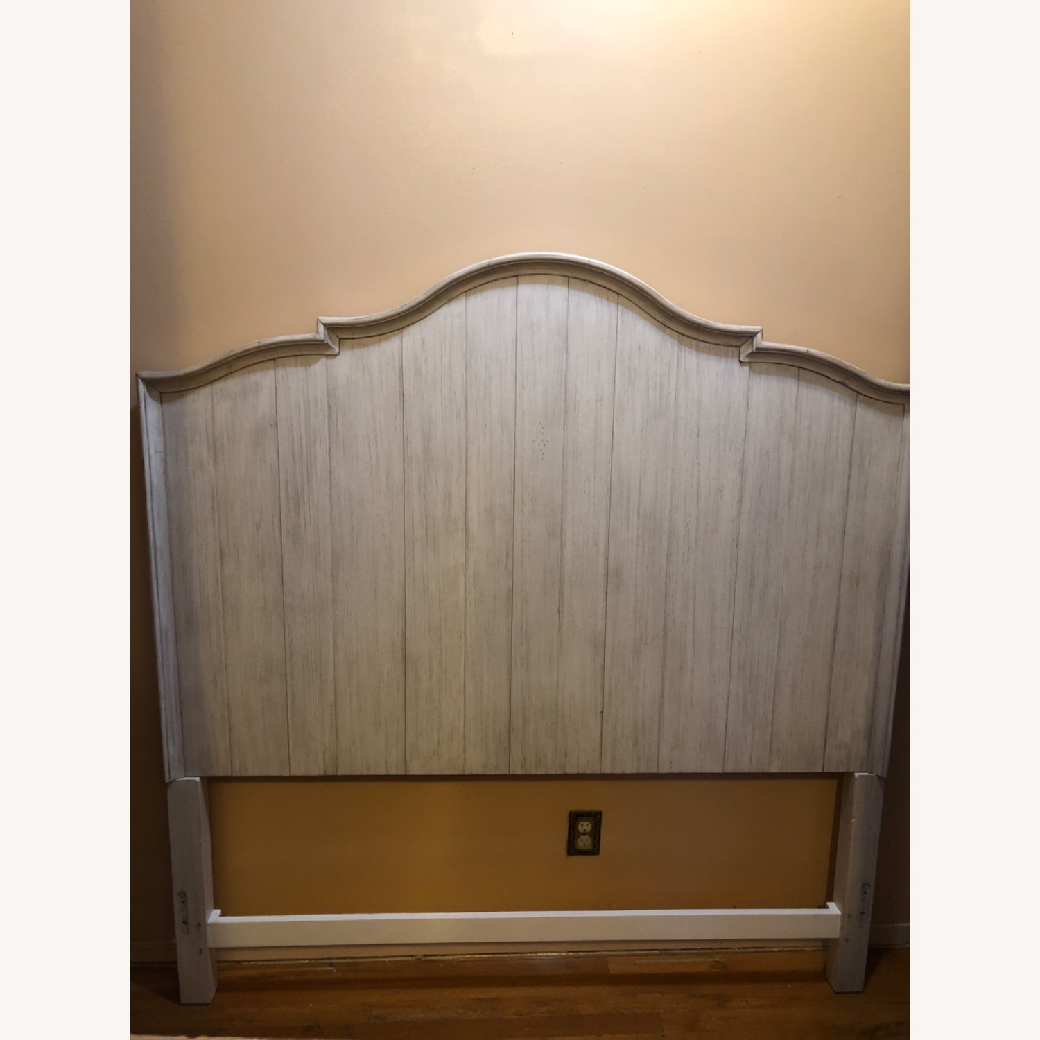 Soft Grey Wood Headboard - image-2