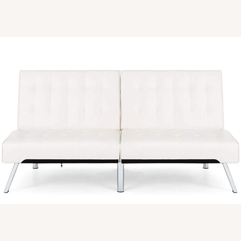 White Sofa Bed - image-1