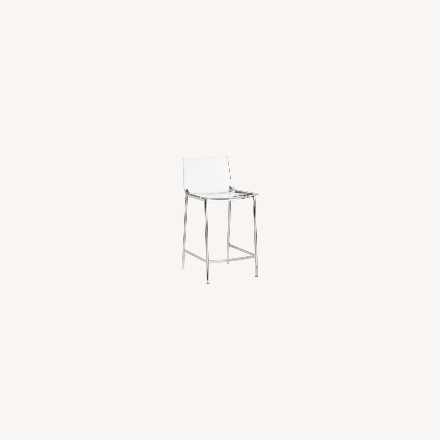 CB2 Chiaro Clear Counter Stool - image-0