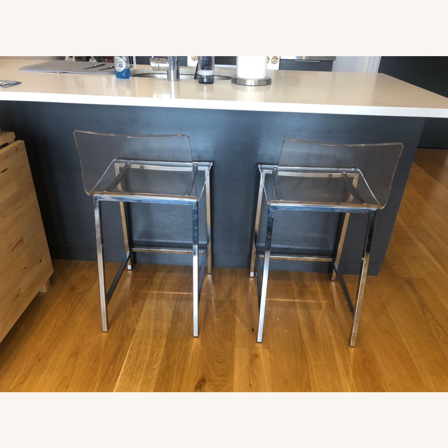 CB2 Chiaro Clear Counter Stool - image-2