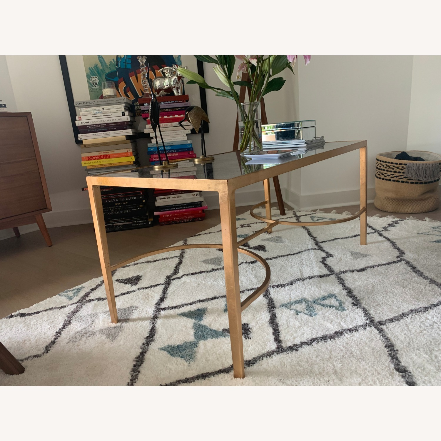 Words Away Mirrored & Gold Leaf Coffee Table - image-5