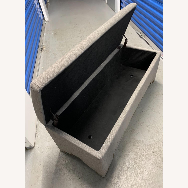 Pier 1 Imports Grey Upholstered Storage Ottoman - image-7
