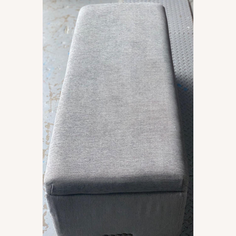 Pier 1 Imports Grey Upholstered Storage Ottoman - image-3