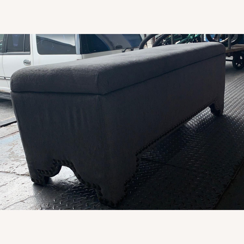 Pier 1 Imports Grey Upholstered Storage Ottoman - image-4