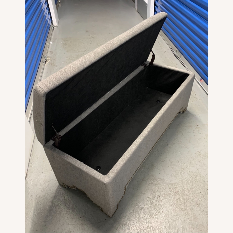 Pier 1 Imports Grey Upholstered Storage Ottoman - image-6