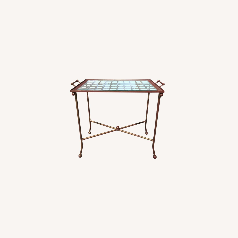 Vintage Mid Century Side Table / Tray - image-0