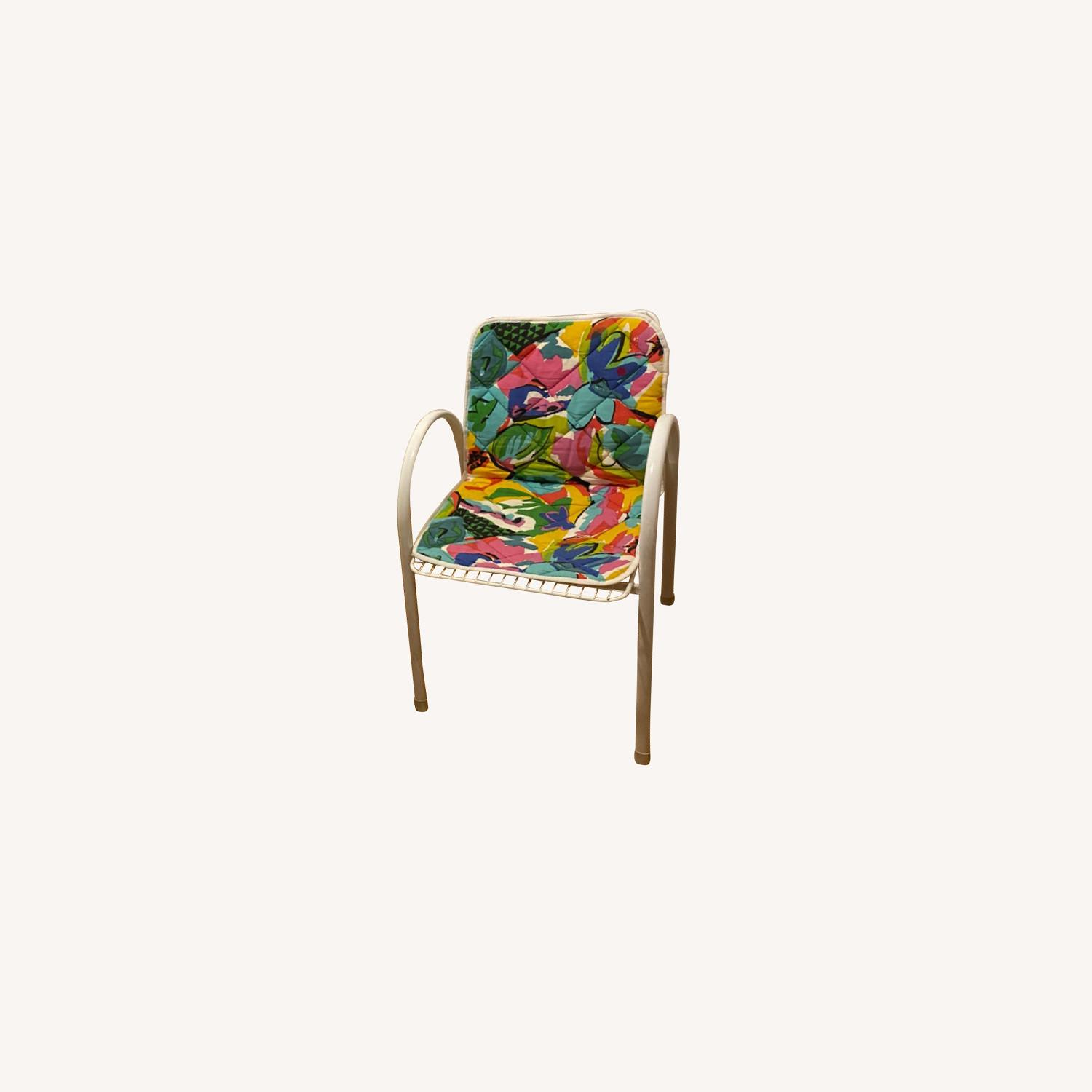 Vintage Garden Chairs With Seat Covers - image-0