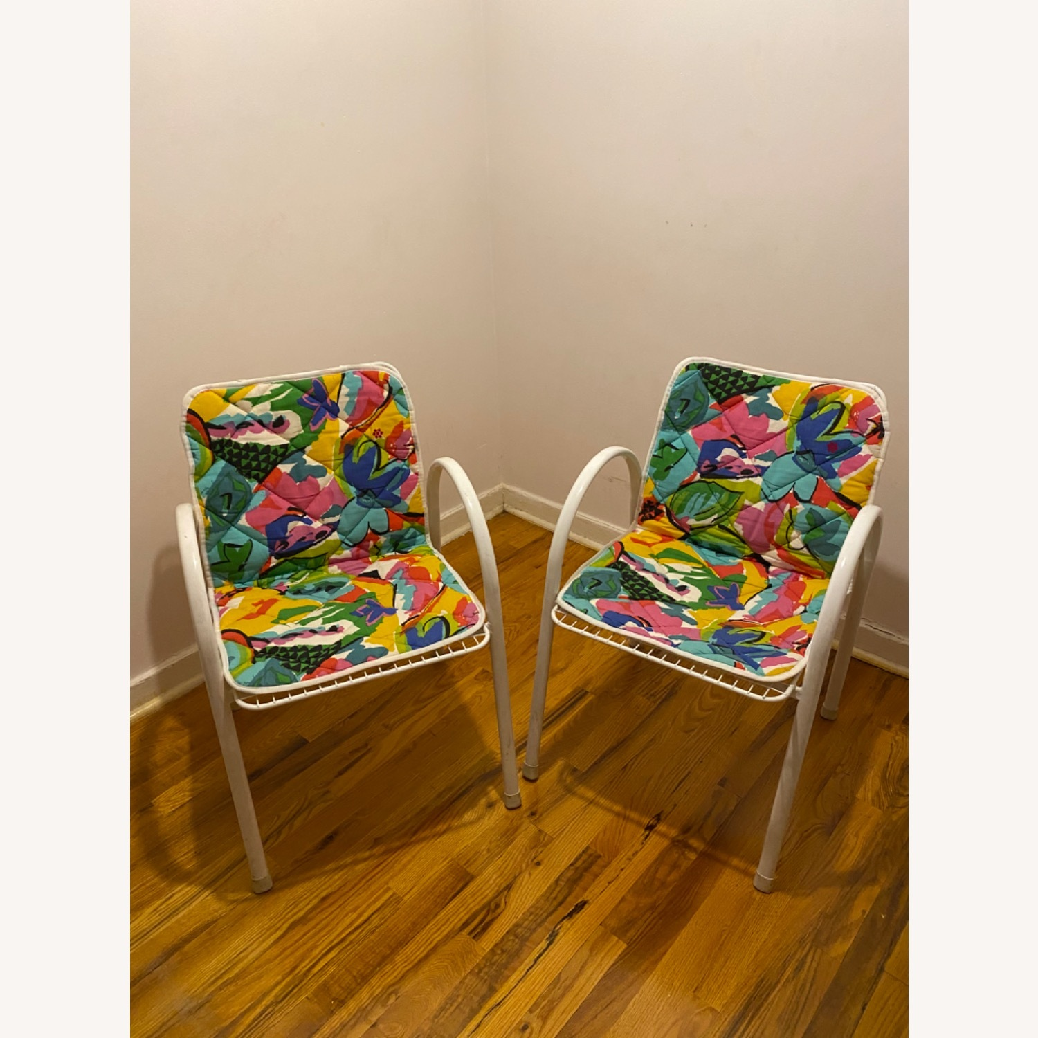 Vintage Garden Chairs With Seat Covers - image-2