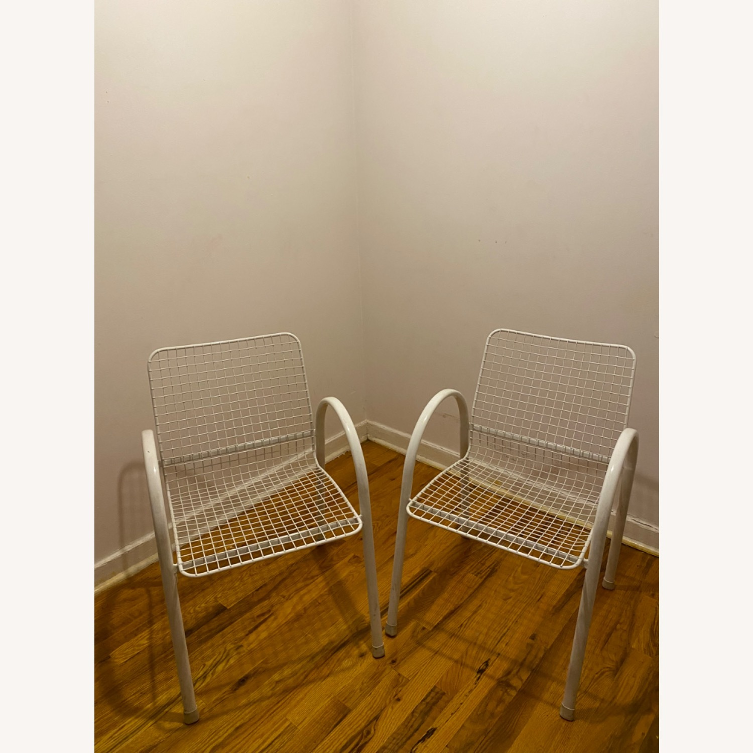 Vintage Garden Chairs With Seat Covers - image-1