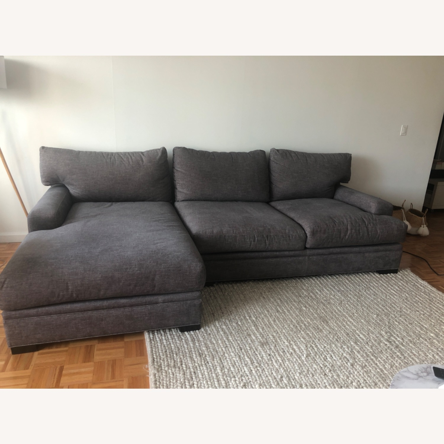 Raymour & Flanigan Love seat and LAF chaise Braelyn - image-5
