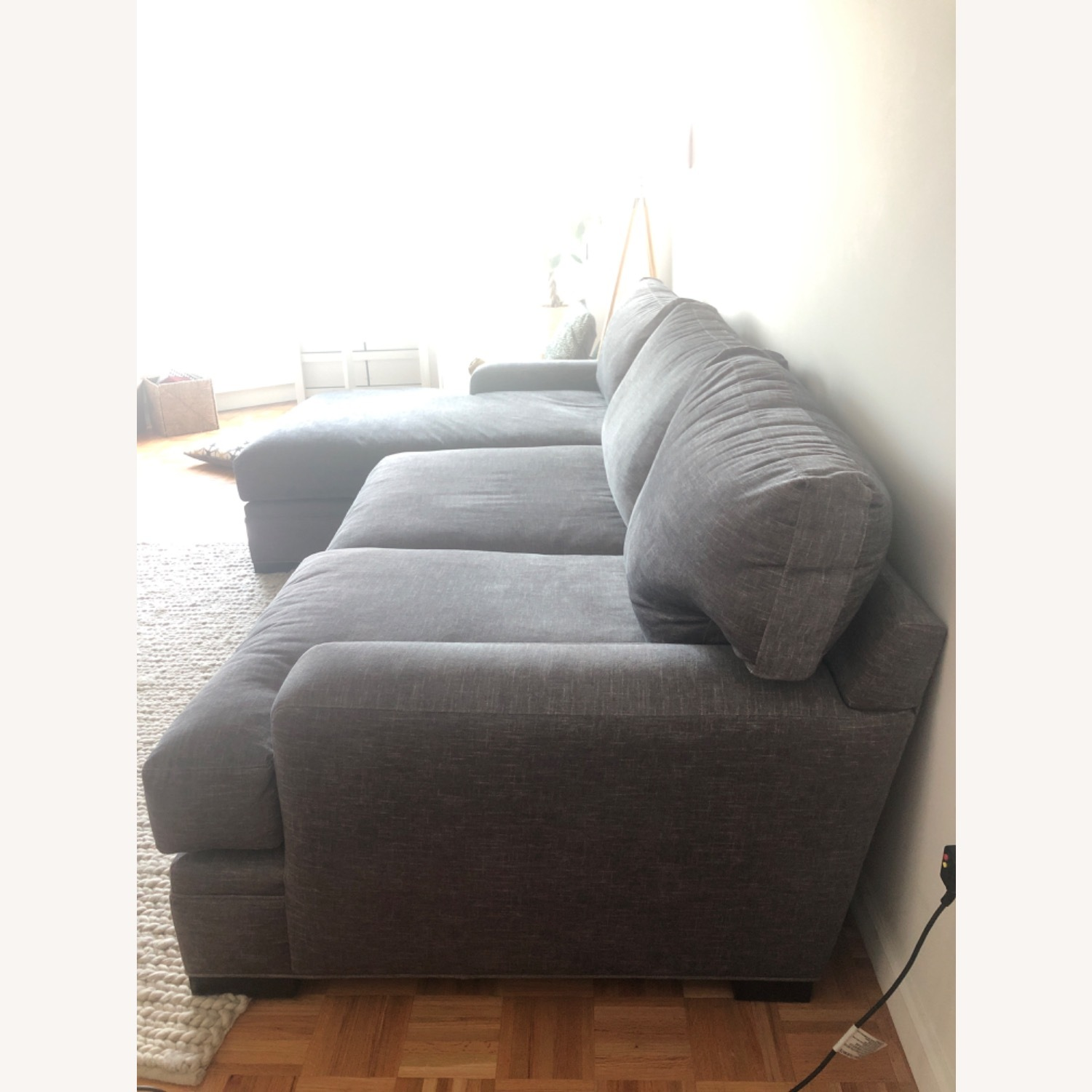 Raymour & Flanigan Love seat and LAF chaise Braelyn - image-2