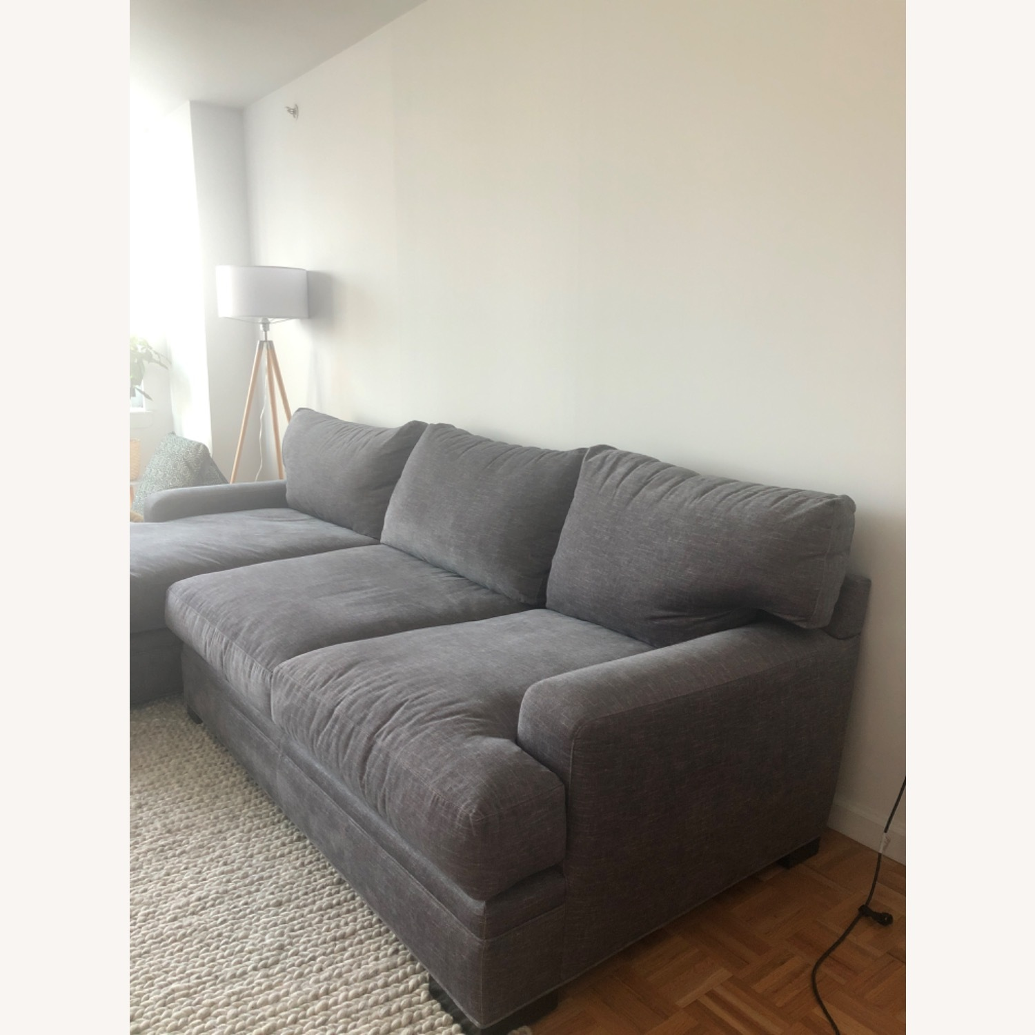 Raymour & Flanigan Love seat and LAF chaise Braelyn - image-3