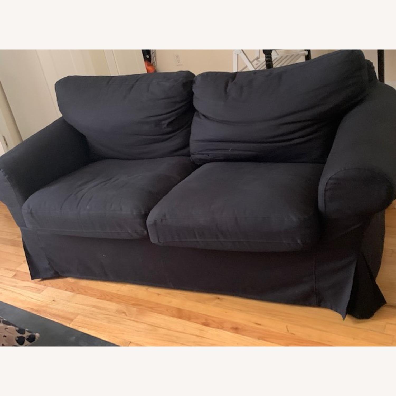 IKEA Black Sofa - image-1