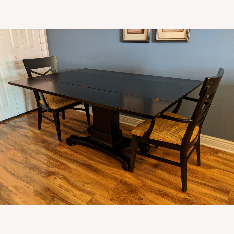 Ebonized Convertible Dining Console Table - image-8