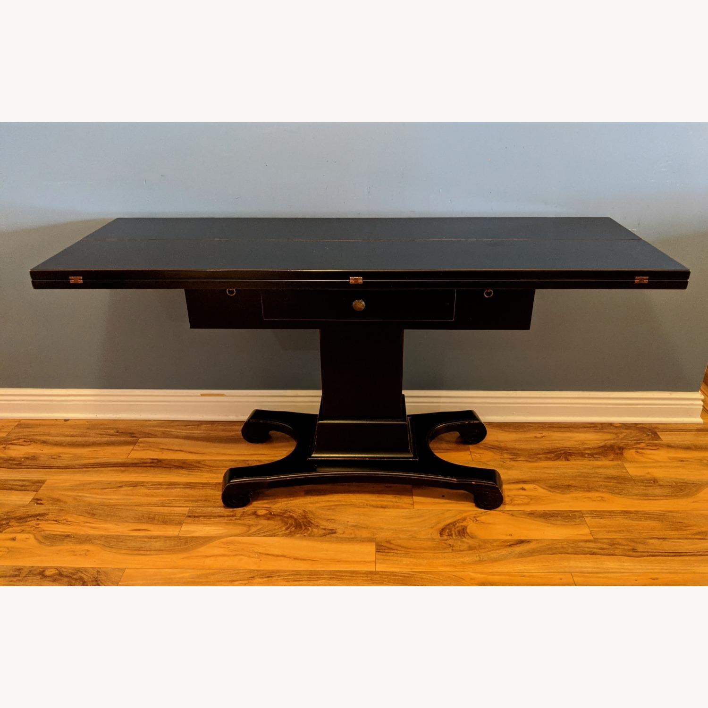 Ebonized Convertible Dining Console Table - image-0