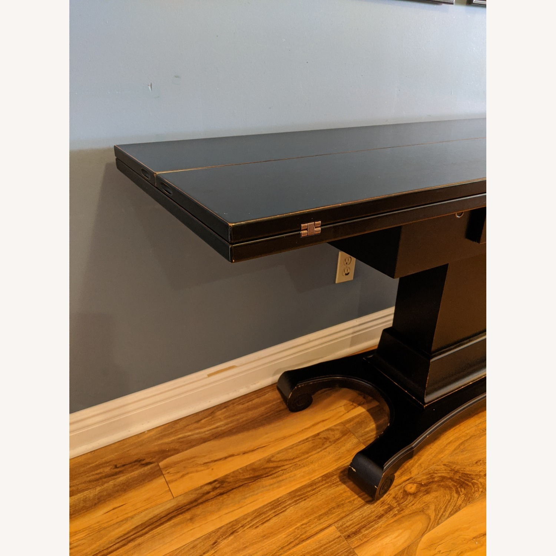 Ebonized Convertible Dining Console Table - image-5