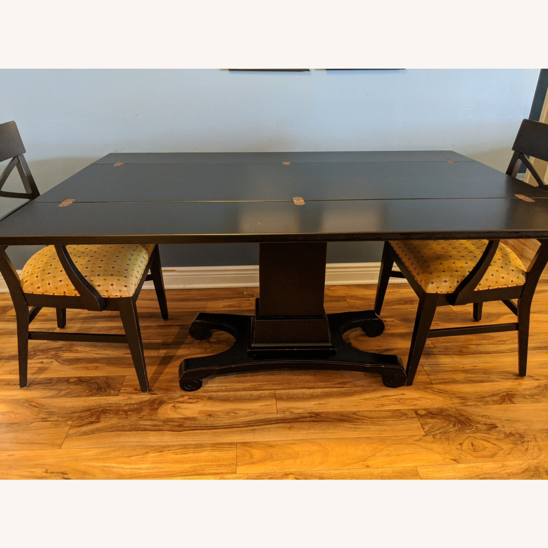 Ebonized Convertible Dining Console Table - image-9