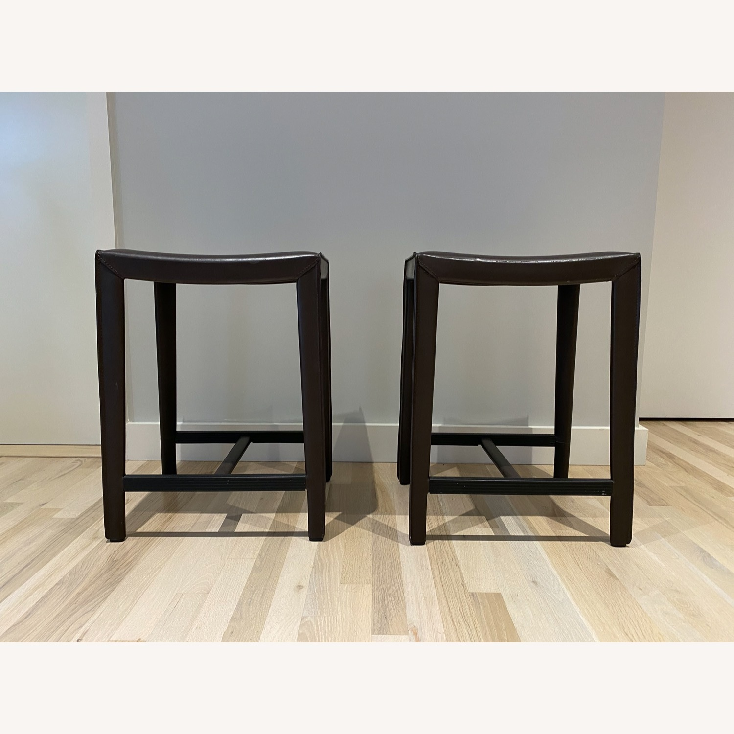 Set of Crate & Barrel Backless Counter Stools - image-1