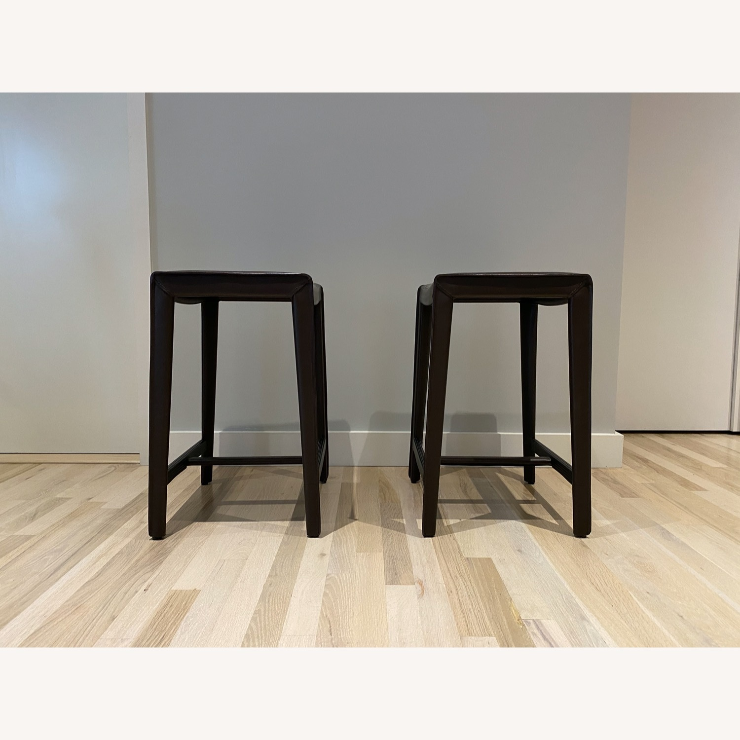 Set of Crate & Barrel Backless Counter Stools - image-2