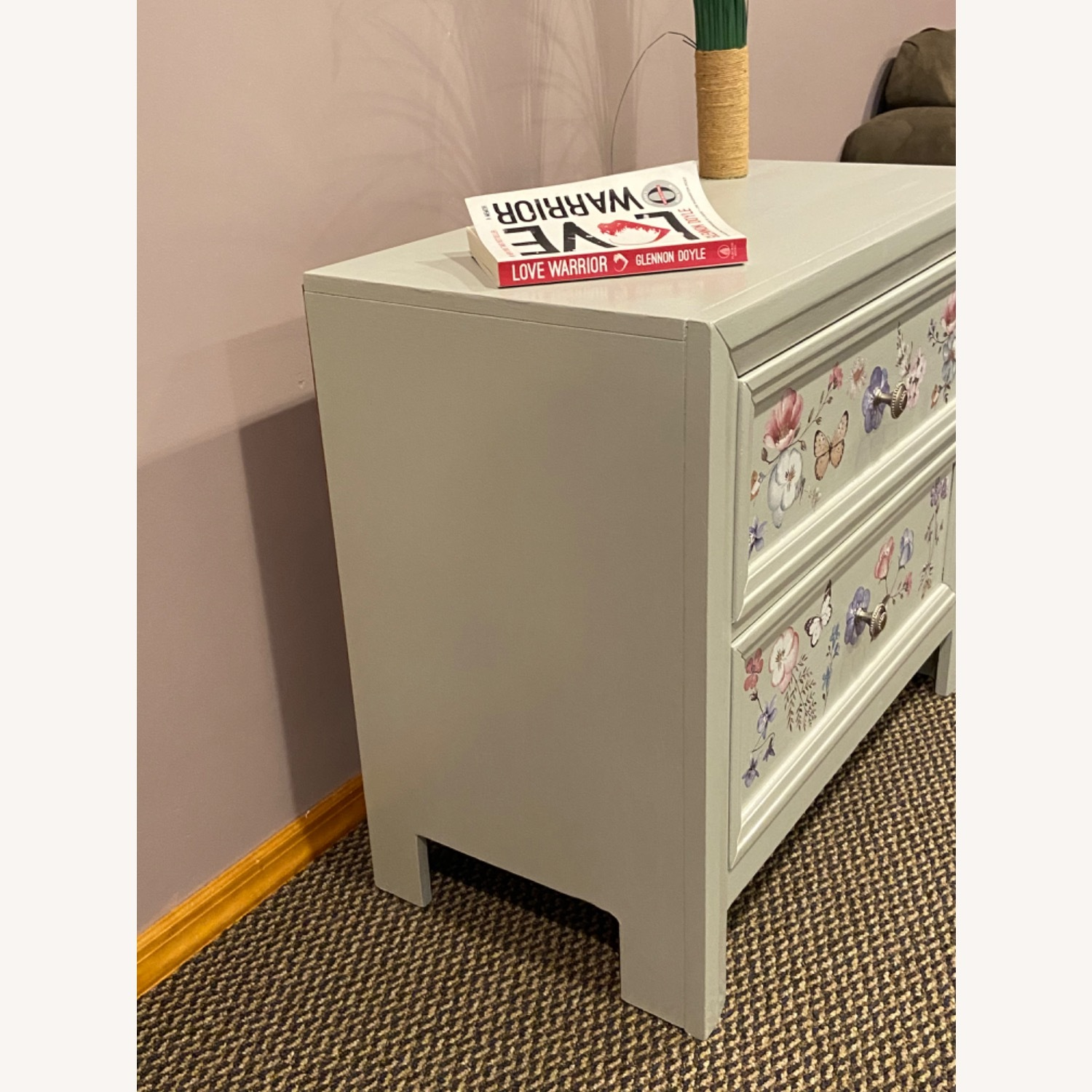 Up Cycled, Hand Painted Nightstand - image-8
