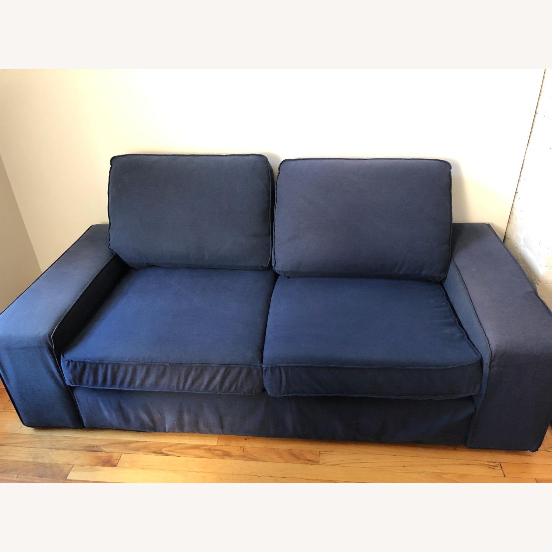 IKEA Loveseat Sofa Blue - image-1