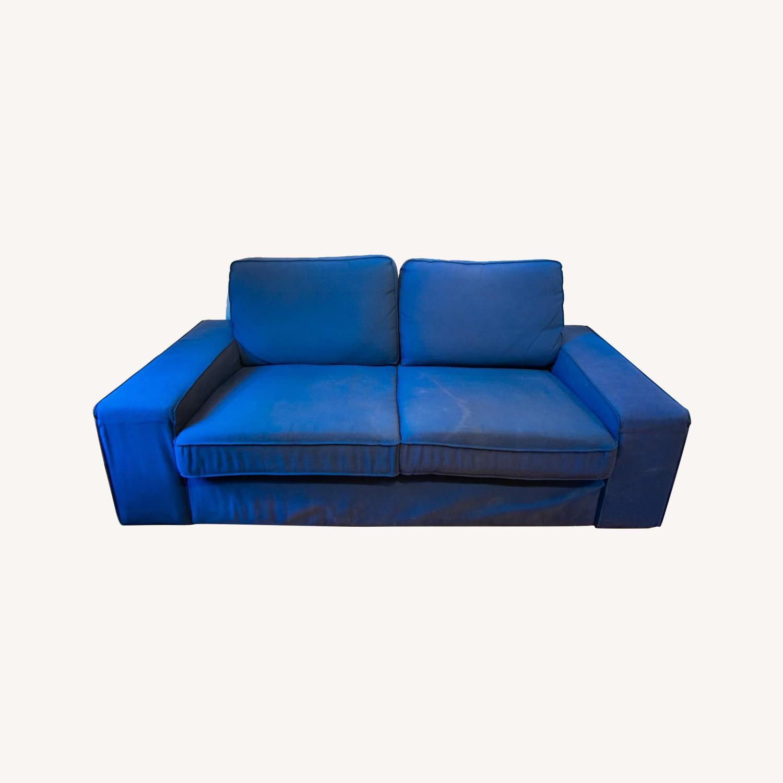 IKEA Loveseat Sofa Blue - image-0
