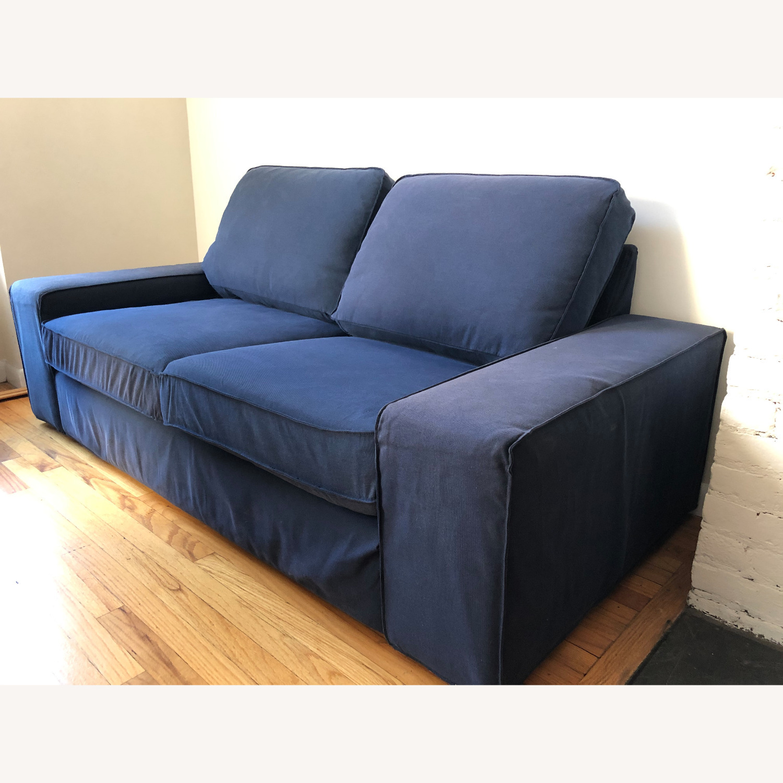 IKEA Loveseat Sofa Blue - image-3