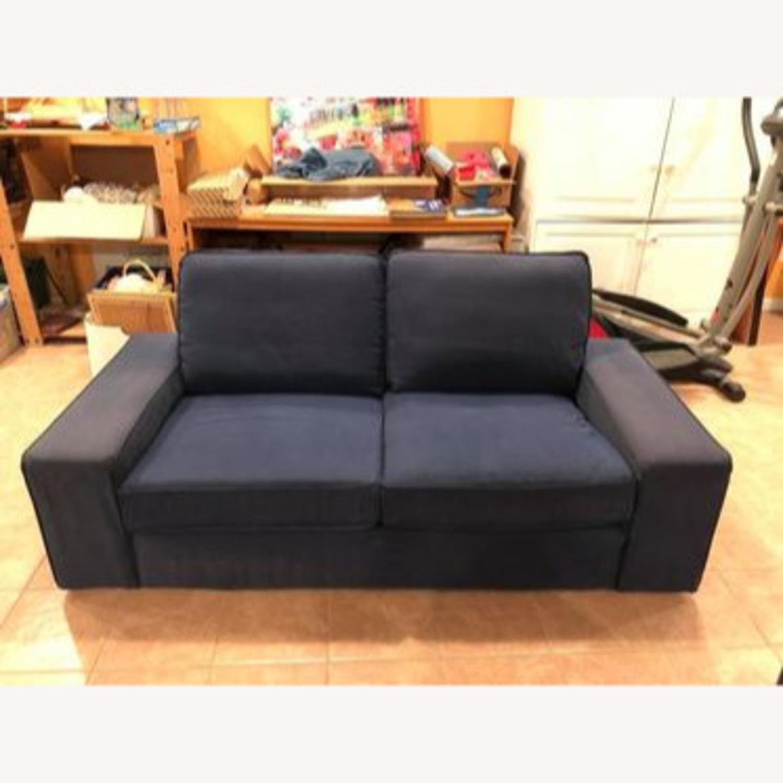 IKEA Loveseat Sofa Blue - image-5