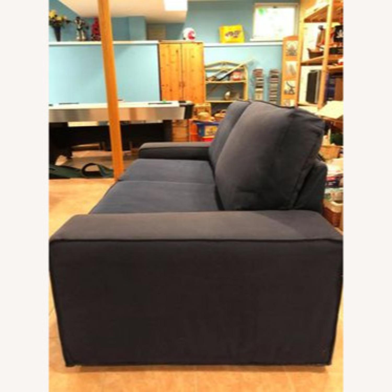 IKEA Loveseat Sofa Blue - image-9