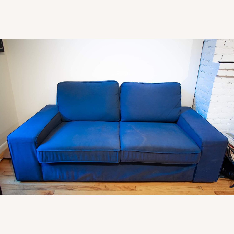 IKEA Loveseat Sofa Blue - image-2