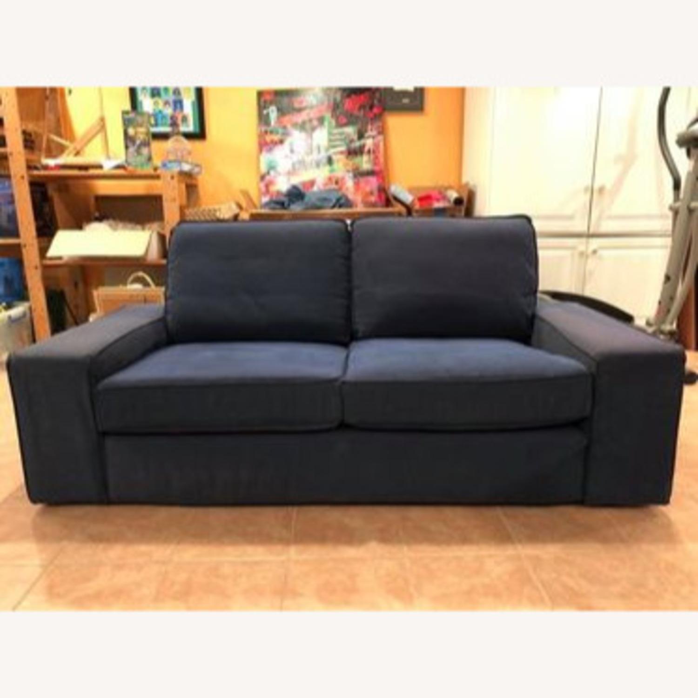 IKEA Loveseat Sofa Blue - image-6