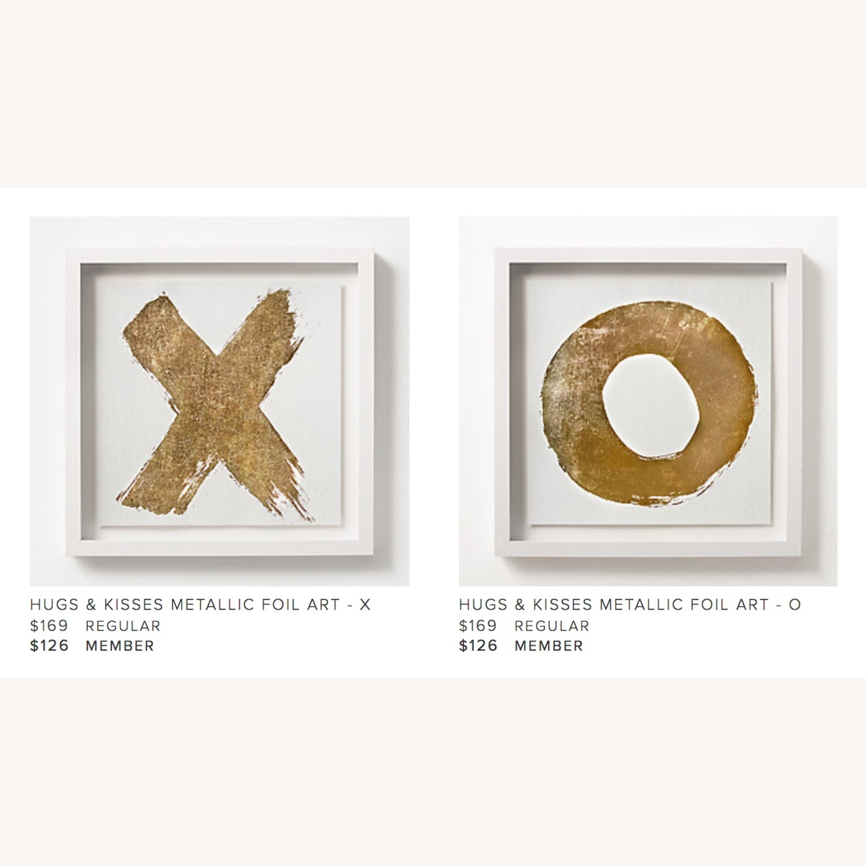 Restoration Hardware Teen X O Metallic Foil Wall Art - image-1