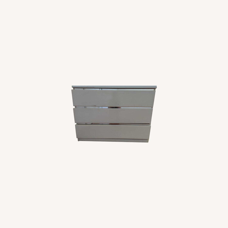Antique Wooden White Dresser - image-0