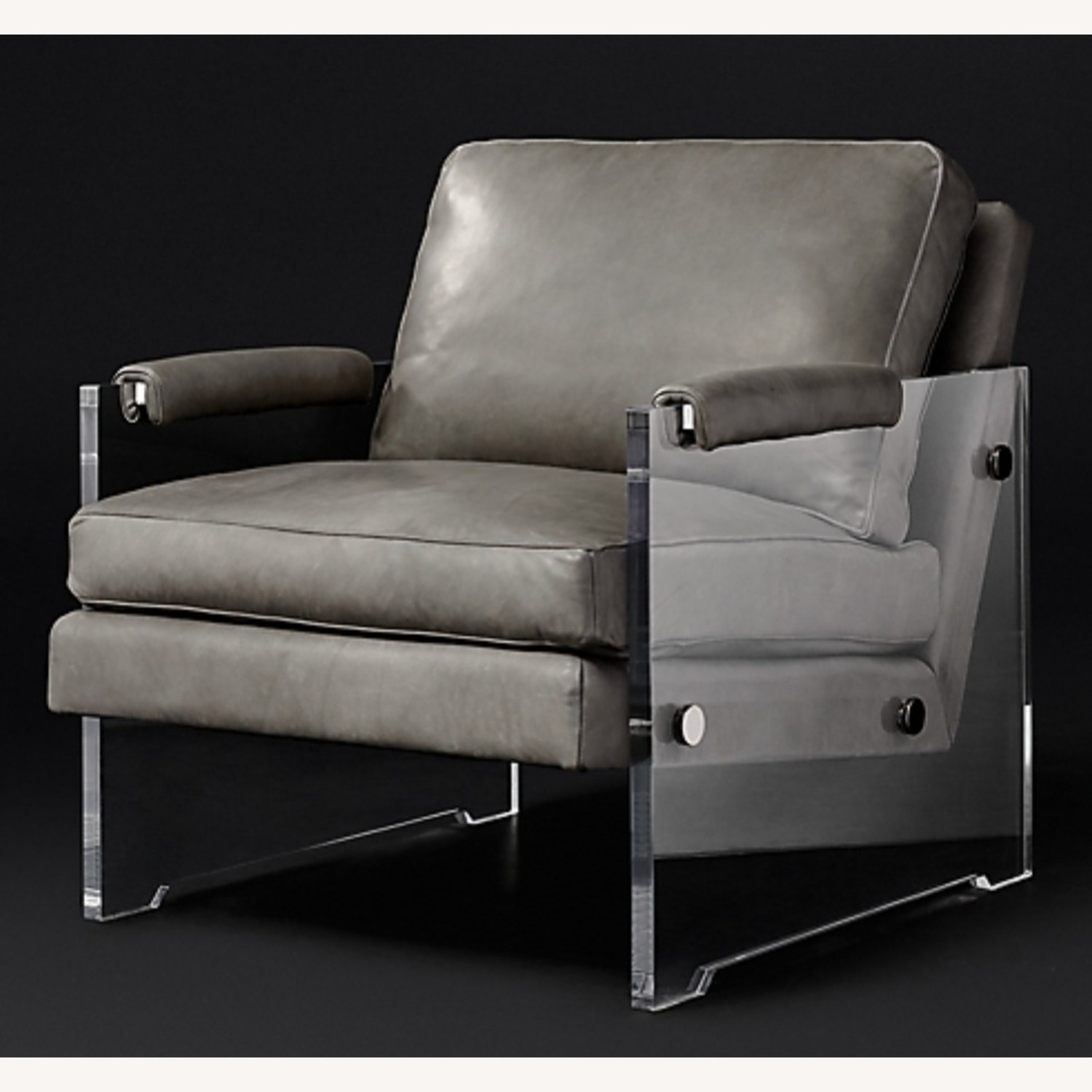 Restoration Hardware Leather Luca Chair - image-0