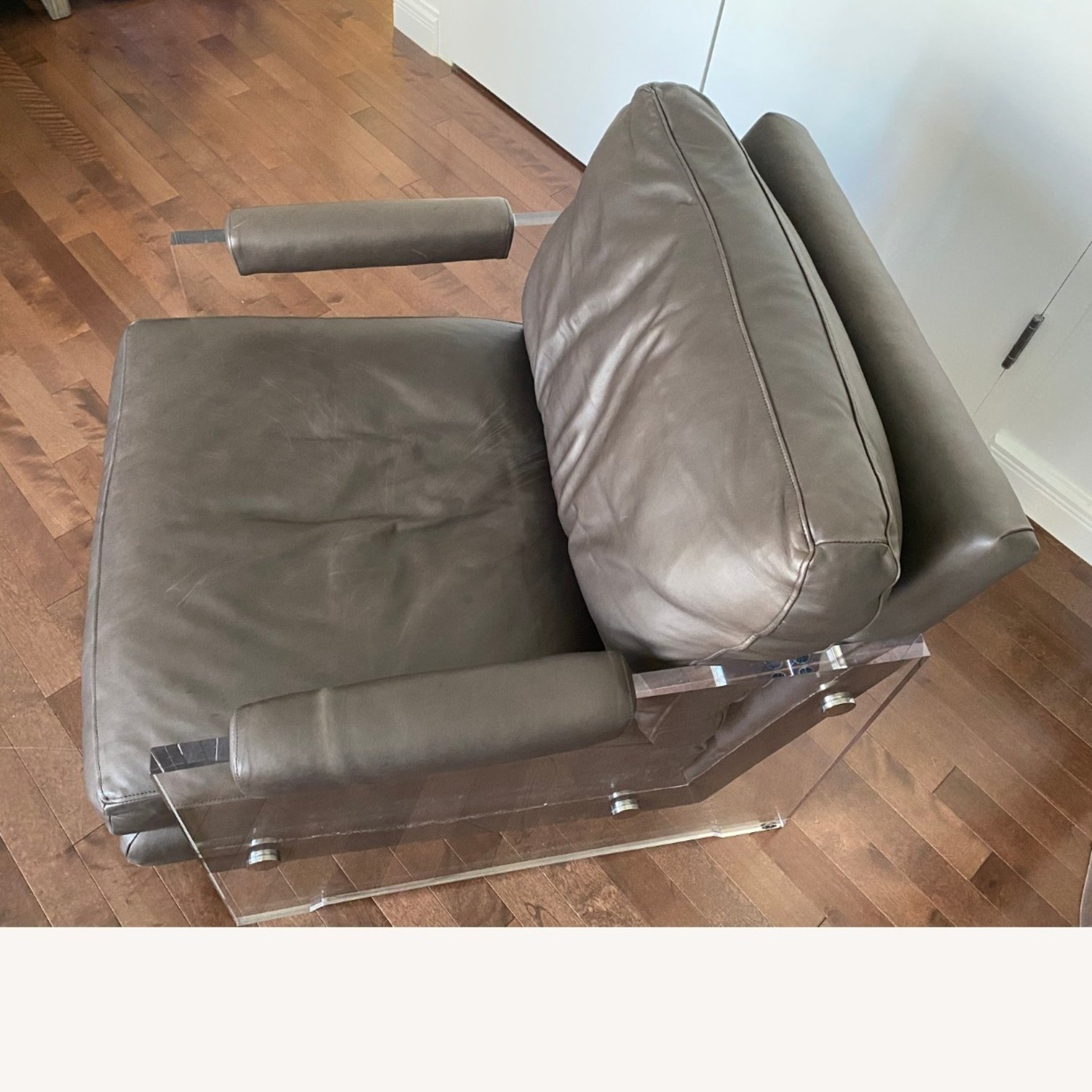 Restoration Hardware Leather Luca Chair - image-19
