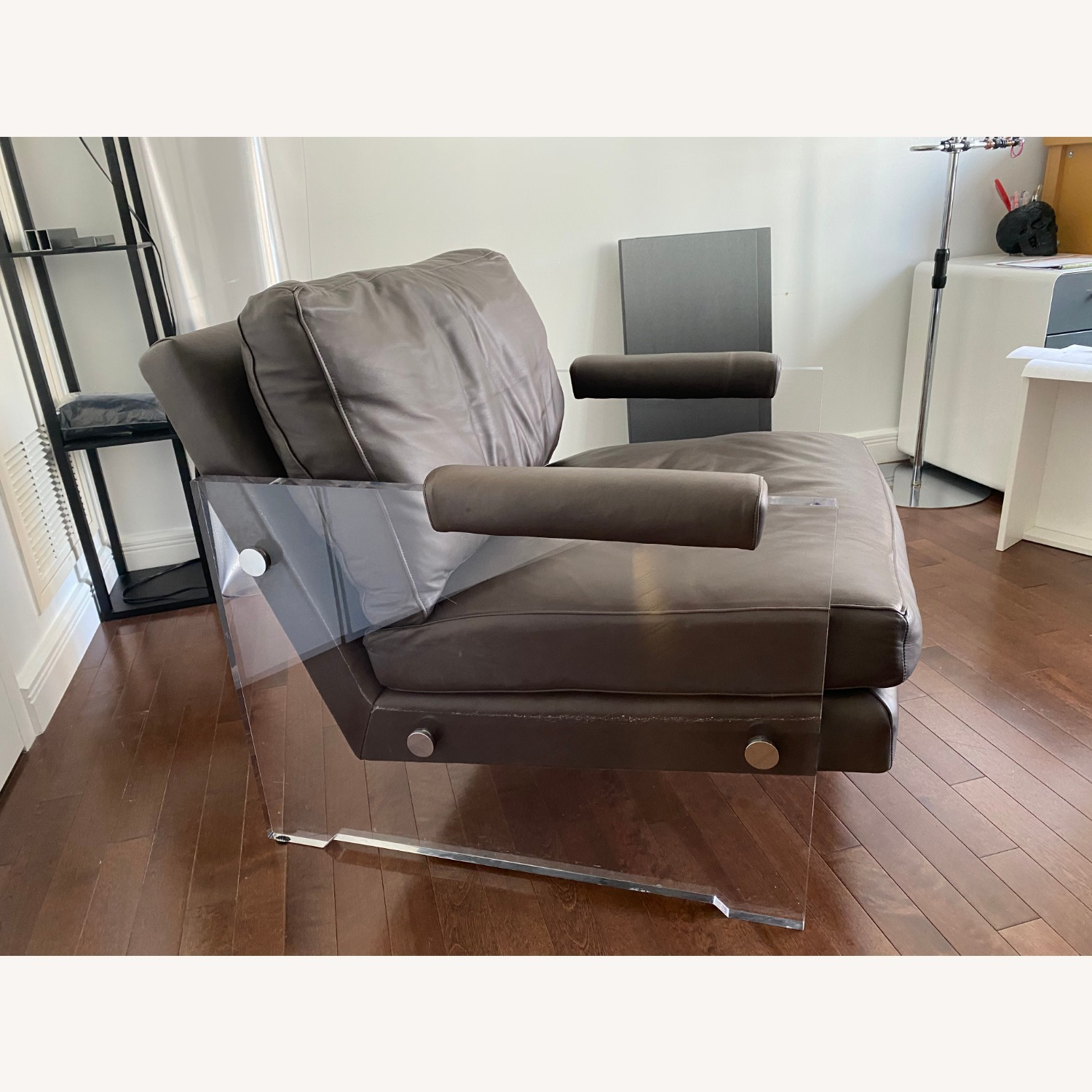 Restoration Hardware Leather Luca Chair - image-4