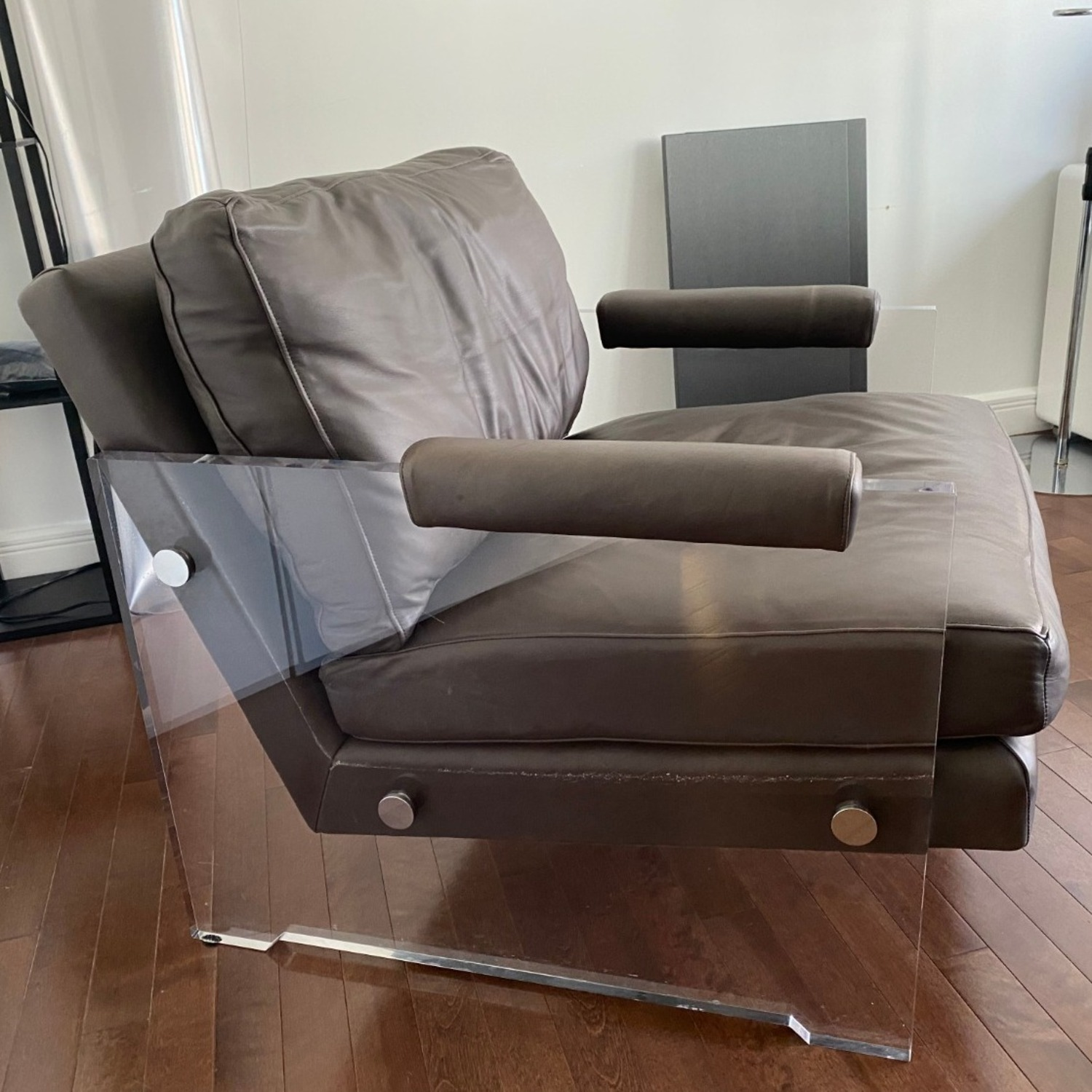 Restoration Hardware Leather Luca Chair - image-23