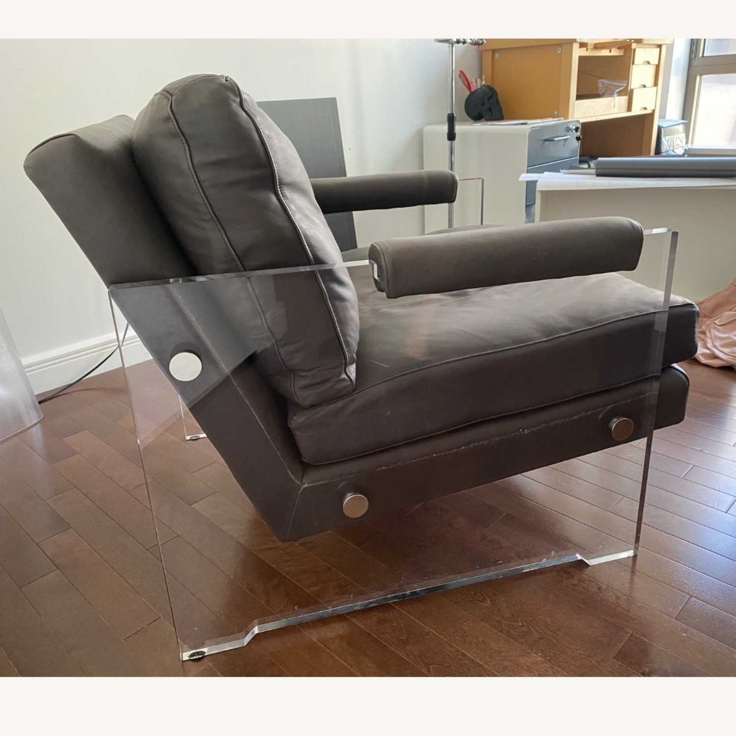 Restoration Hardware Leather Luca Chair - image-17