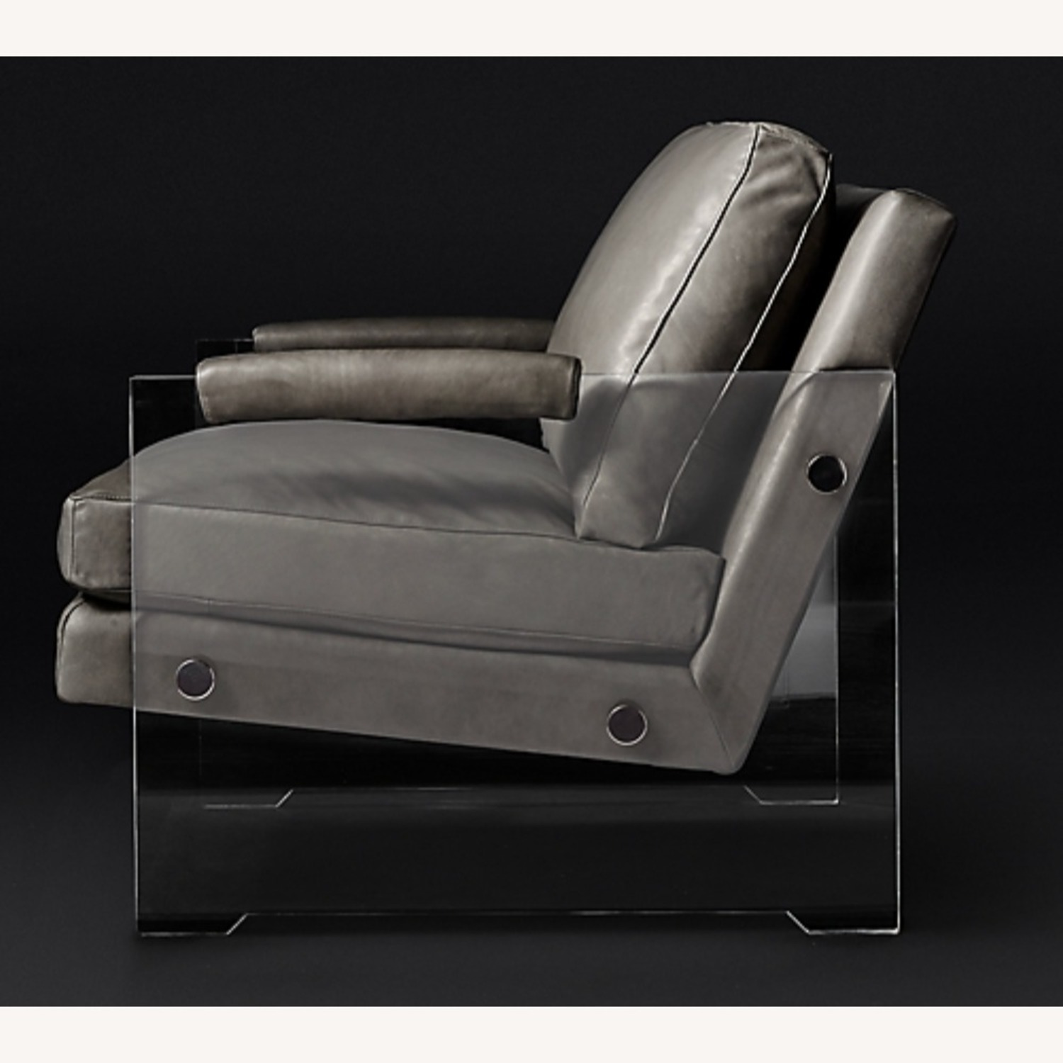 Restoration Hardware Leather Luca Chair - image-7